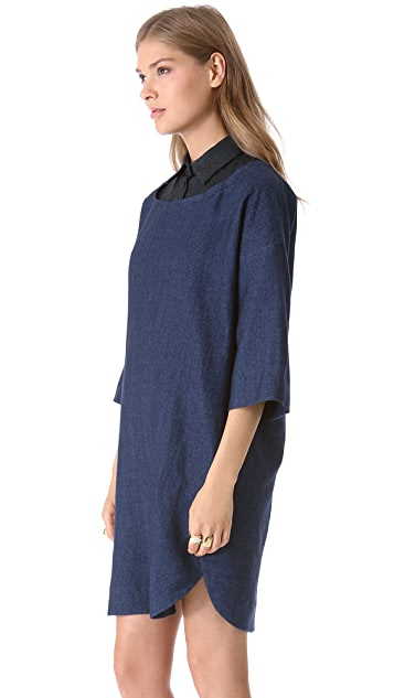 Sonia by Sonia Rykiel Collared Combo Dress