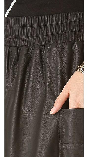 Sonia by Sonia Rykiel Leather Skirt