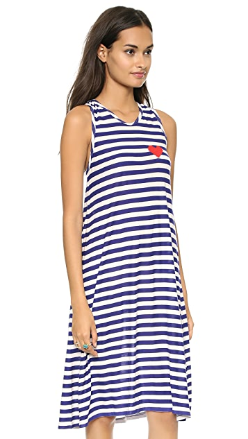 Sonia by Sonia Rykiel Striped Heart Dress