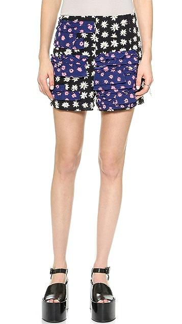 Sonia by Sonia Rykiel Daisy Silk Shorts