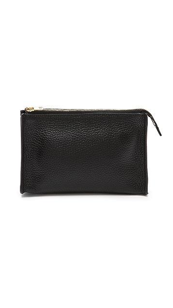 Sophie Hulme Gold Side Make Up Bag
