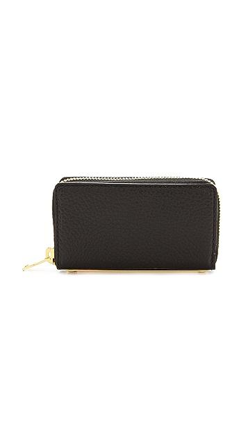 Sophie Hulme Mini Gold Spine Wallet