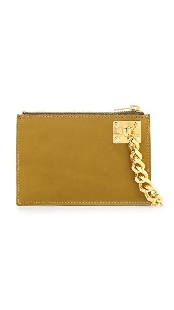 Sophie Hulme Small Zip Pouch with Chain