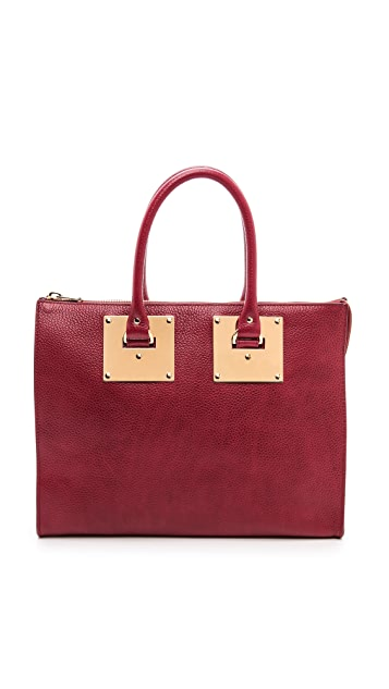 Sophie Hulme Zip Top Bowling Bag
