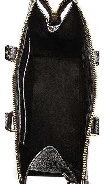 Sophie Hulme Stamped Zip Top Bag