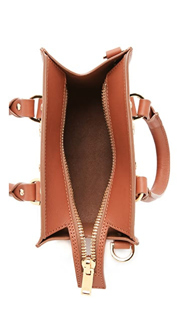Sophie Hulme Объемная сумка с короткими ручками Box