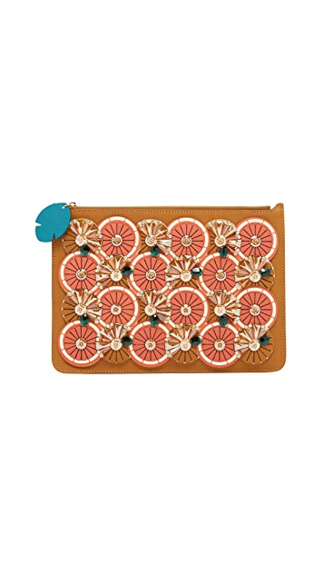 Sophie Hulme Embellished Citrus Pouch