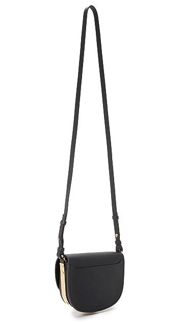 Sophie Hulme Embellished Mini Saddle Bag