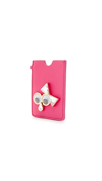 Sophie Hulme Googly Eye Card Case