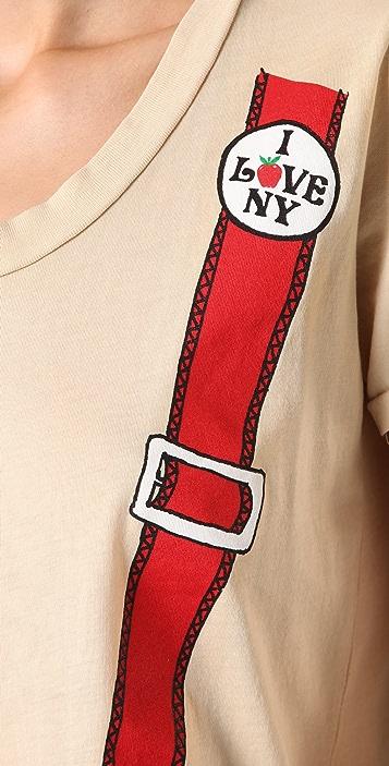 Sophomore I Love NY Suspender Tee