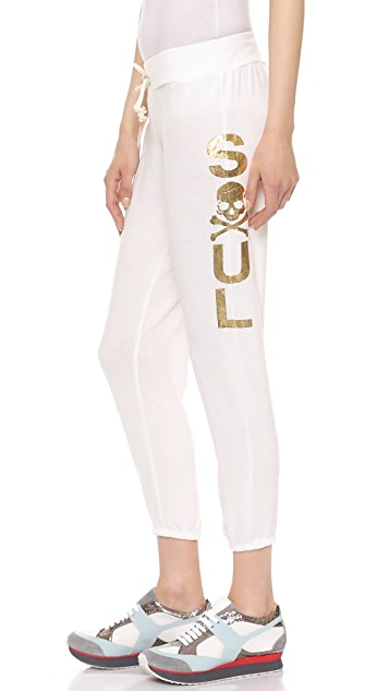 SoulCycle Skull Hacci Scrunch Sweatpants