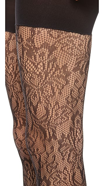 SPANX Uptown Tight End Look at Me Lace Tights