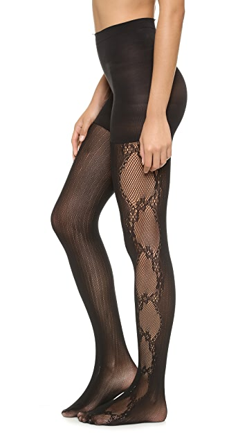 SPANX Fishnet Flair Uptown Tight End Tights