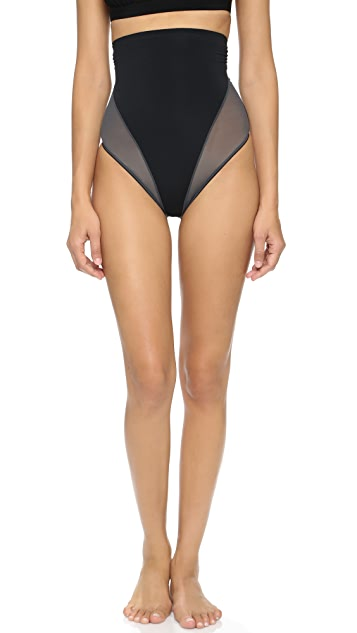 SPANX Colorblock High Waisted Thong