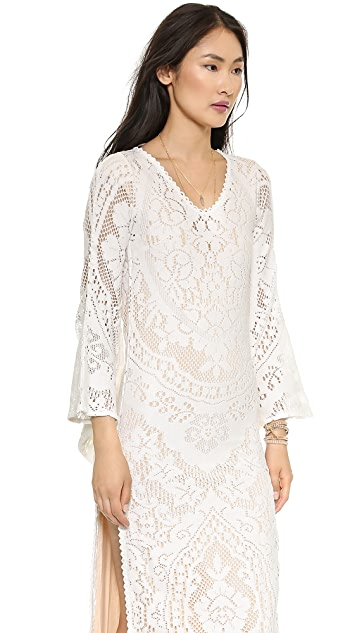 Spell and the Gypsy Collective White Dove Vintage Lace Maxi Dress