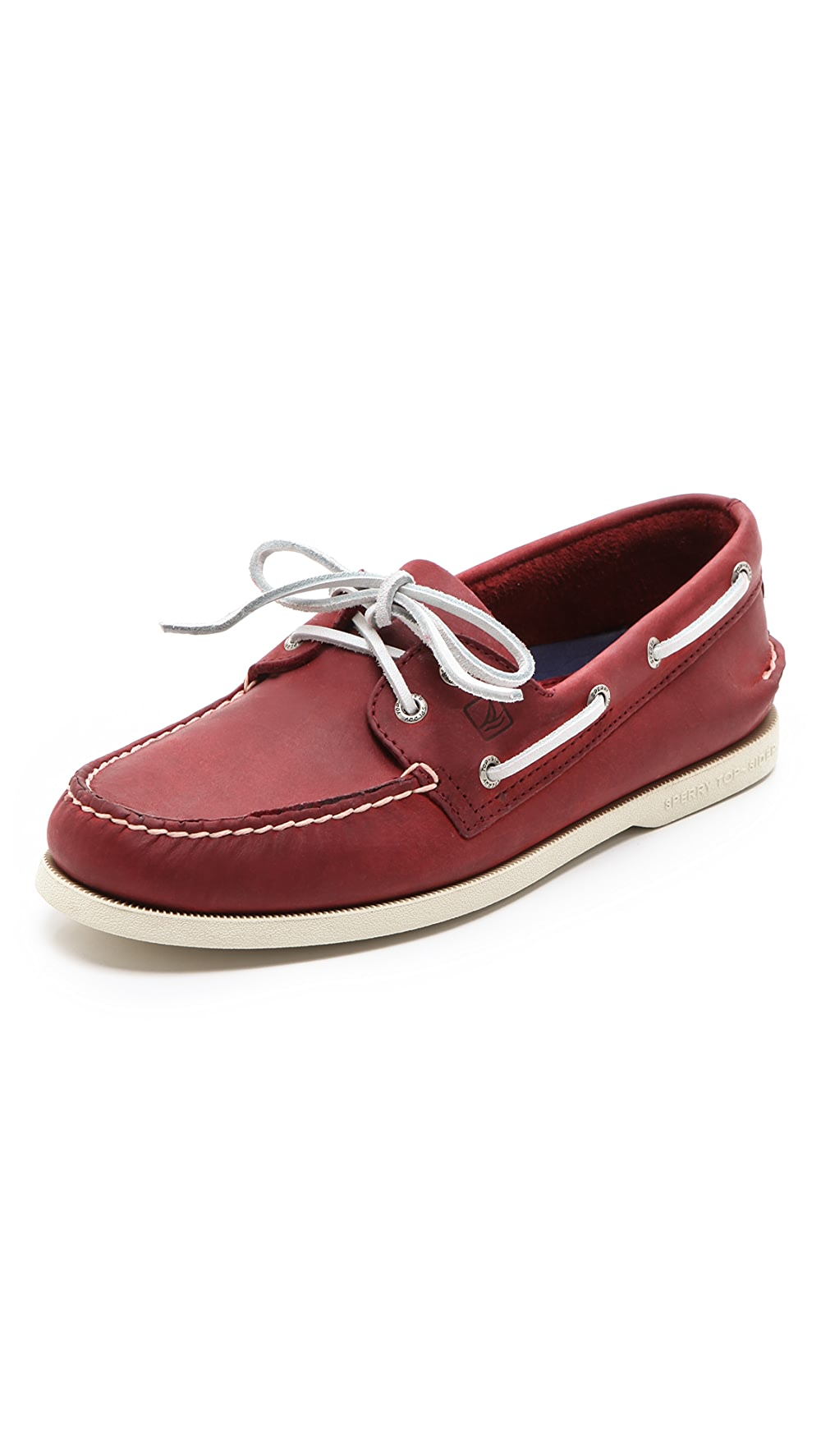 Classic Boat Shoes on White Sole