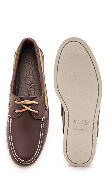 33abbff11 ... Sperry A O Classic Boat Shoes on White Sole ...