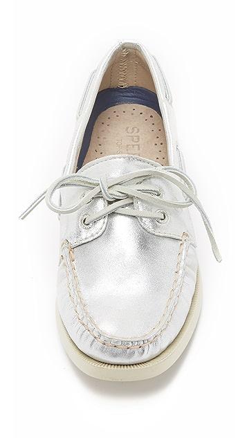 Sperry A/O 2-Eye Metallic Boat Shoes