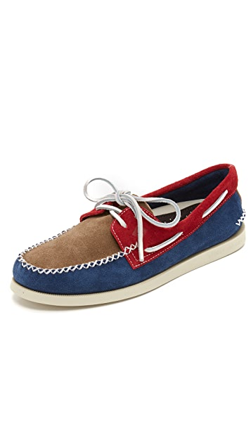 Sperry A/O 2 Eye Wedge Suede Boat Shoes