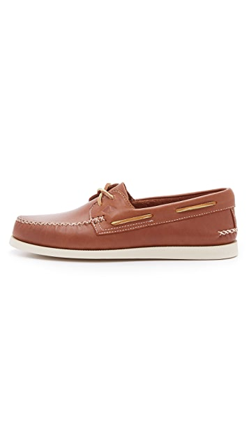 Sperry A/O 2 Eye Wedge Leather Boat Shoes