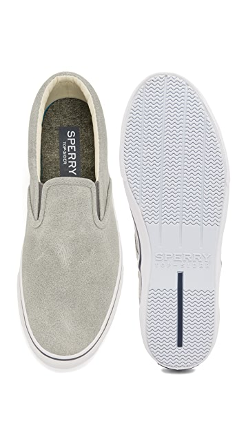 Sperry Striper Leather Slip On Sneakers