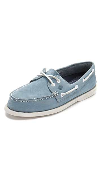 5a10a7d1ad Sperry A O 2-Eye Washable Nubuck Boat Shoes