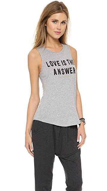 Spiritual Gangster Love is the Answer Muscle Tee