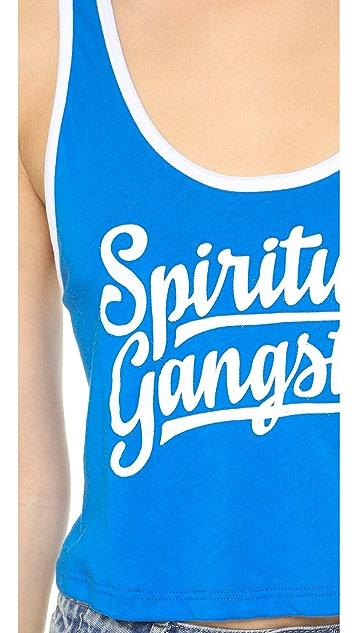 Spiritual Gangster Spiritual Gangster Crop Ringer Tank