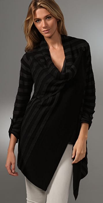 Splendid Textured Stripe Cardigan