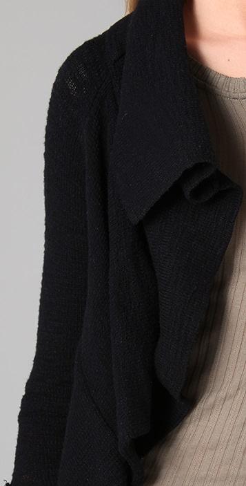 Splendid Textured Slub Cotton Cardigan