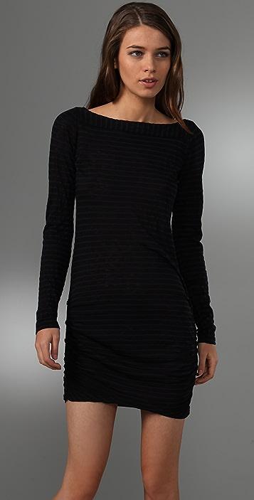 Splendid Navy Slub Stripe Dress