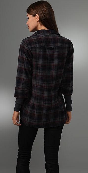 Splendid Plaid Flannel Thermal Top
