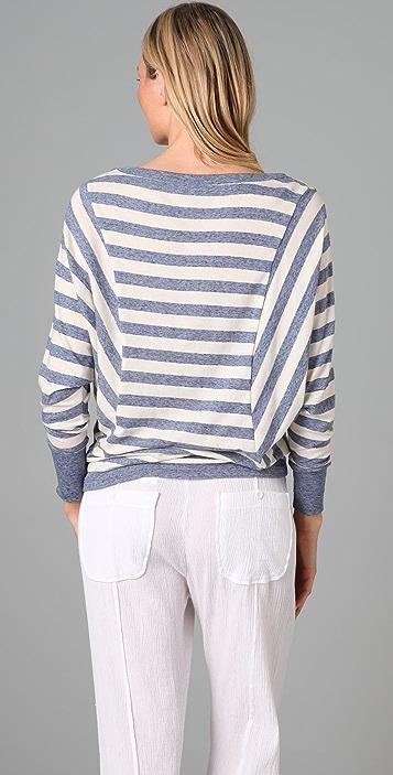 Splendid Oatmeal Streaky Stripe Long Sleeve Tee