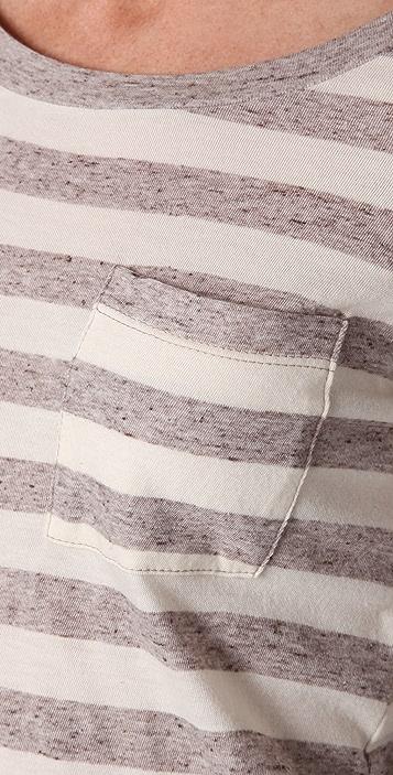 Splendid Oatmeal Streaky Stripe Long Tee