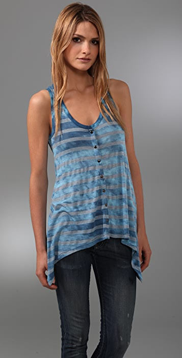 Splendid Iceberg Wash Stripe Swing Tank