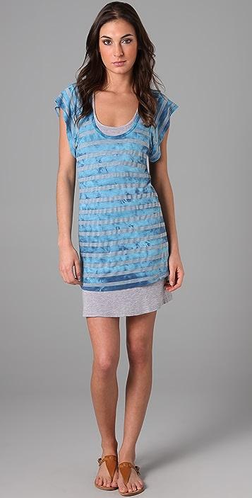 Splendid Iceberg Wash Stripe Surf Tee Dress