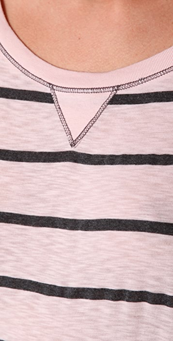 Splendid Charcoal Striped Top