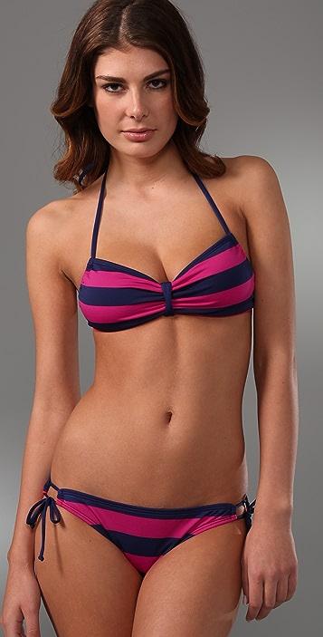 Splendid Marcell Stripe Sweetheart Bikini Top