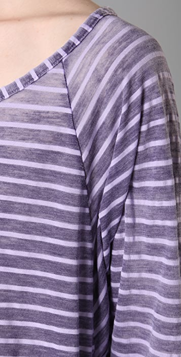 Splendid Distressed Breton Stripe Top