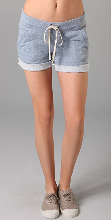 Splendid Melange Mock Twist Shorts