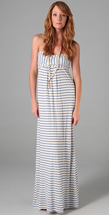 Splendid Chambray Stripe Maxi Dress