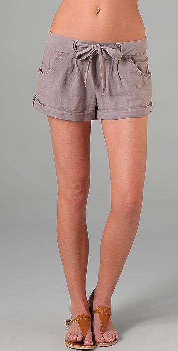 Splendid Tie Front Shorts