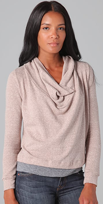 Splendid Mock Twist Cowl Top