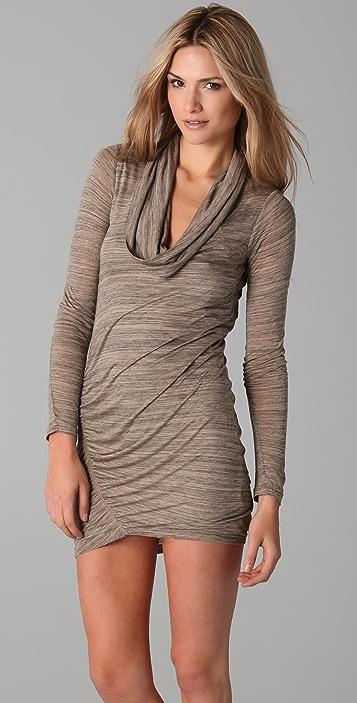Splendid Charcoal Heather Cowl Dress