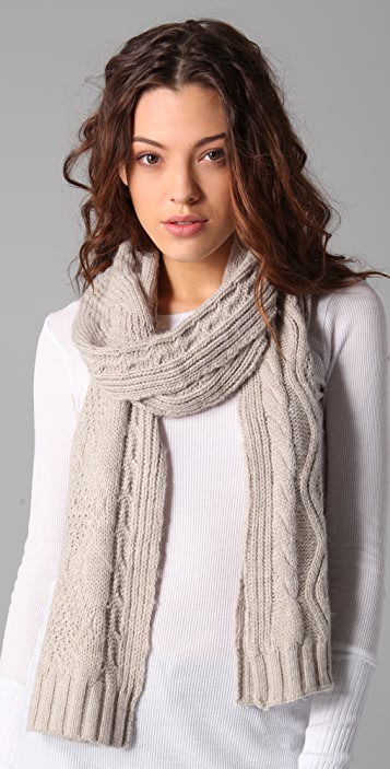 Splendid Classic Cable Scarf
