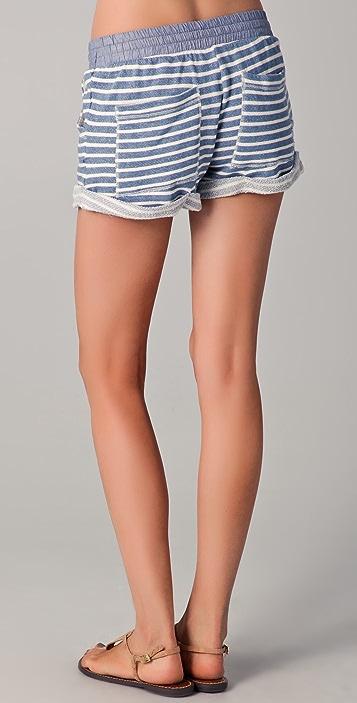 Splendid Sahara Stripe Mini Shorts