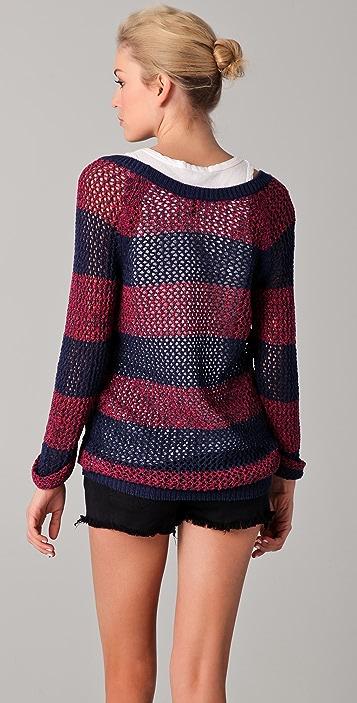 Splendid Salt Lake Striped Sweater