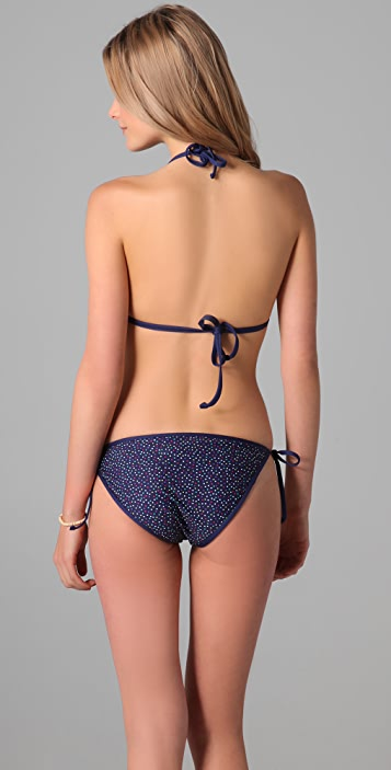 Splendid Confetti Dot Reversible Triangle Bikini Top