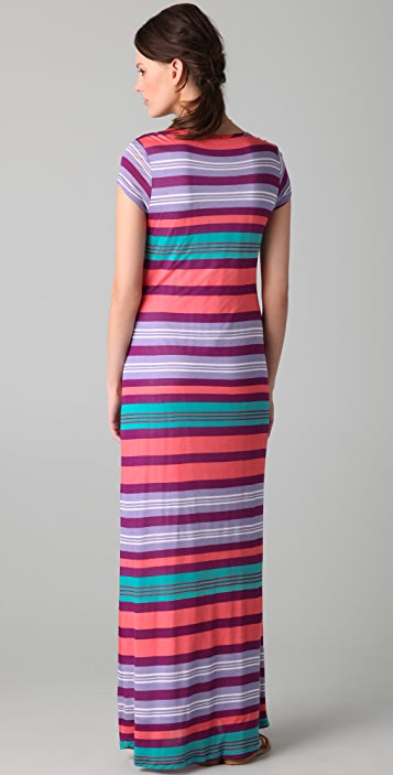 Splendid Beach Towel Stripe Maxi Tee Dress
