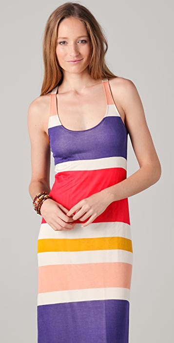 Splendid Block Stripe Maxi Tank Dress